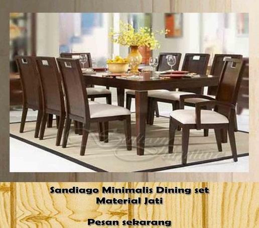 Kerajinan nusantara set kursi makan minimalis sandiago for Furniture bank seattle