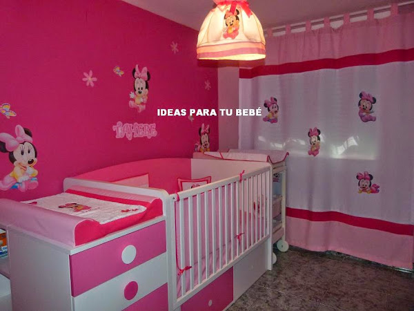 Minnie bebe aprender manualidades es for Decoracion habitacion bebe manualidades