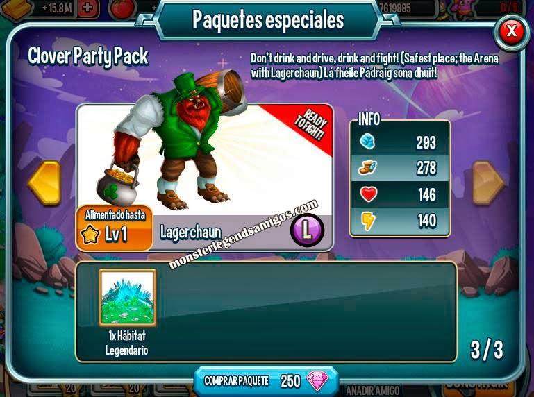 imagen de la oferta del monstruo lagerchaun de monster legends