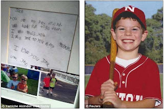 Touching letter from a 6 year to his friend, who was killed in a shooting spree