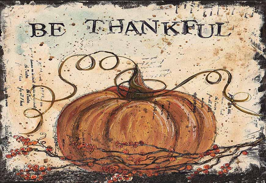 BE THANKFUL PUMPKIN