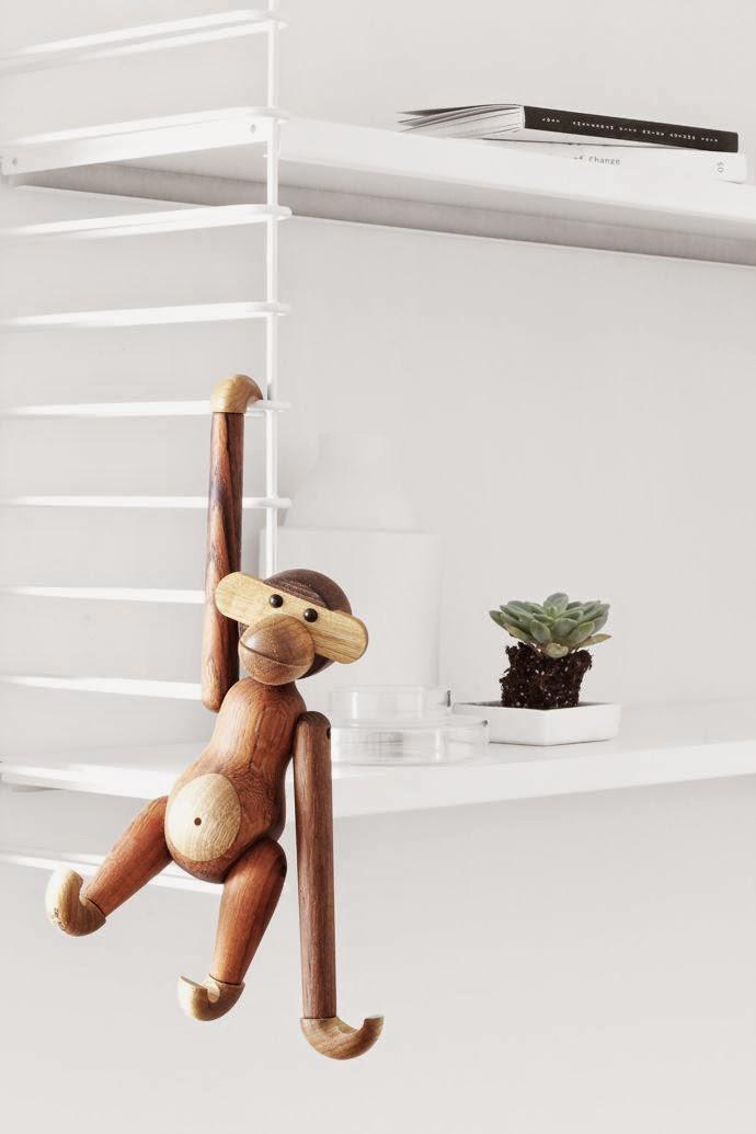 El mono de Kay Bojesen, un simpático icono deco para colgar en cualquier sitio