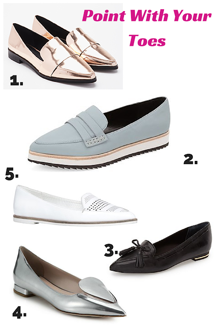 Pointy Loafers are the hottest spring fashion shoe trend for 2015