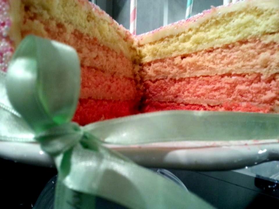 Kuchenfee Lisa Ganache ~ ombré farbverlauf torte kuchenfee lisa