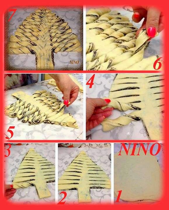 Braided Nutella Christmas Tree Bread Recipe - DIY Craft Projects