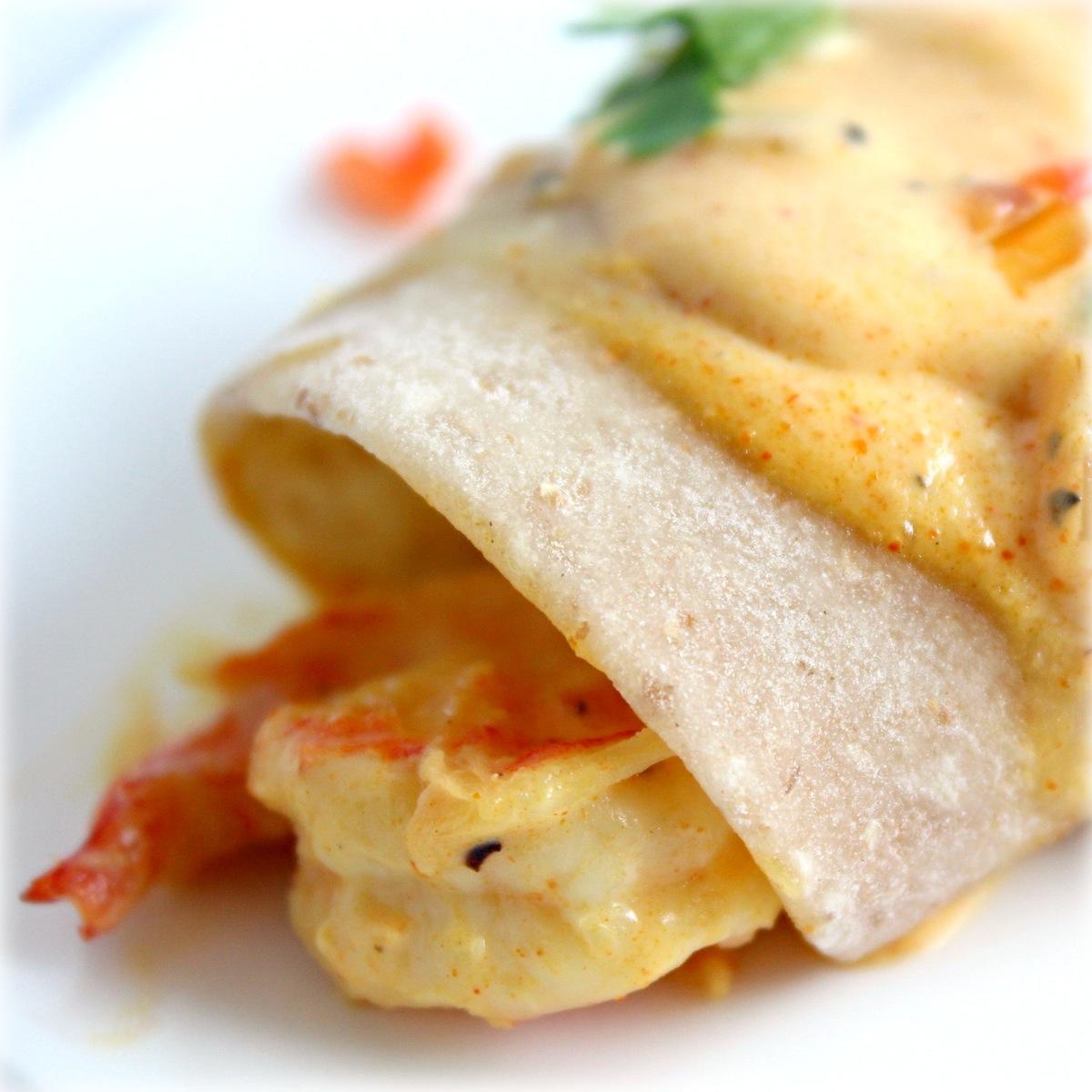 Creamy Cajun Shrimp Enchilada