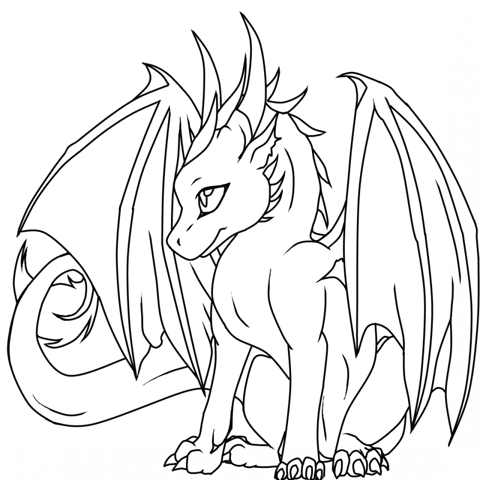 Coloring Pages Dragons : Coloring pages female dragon free and