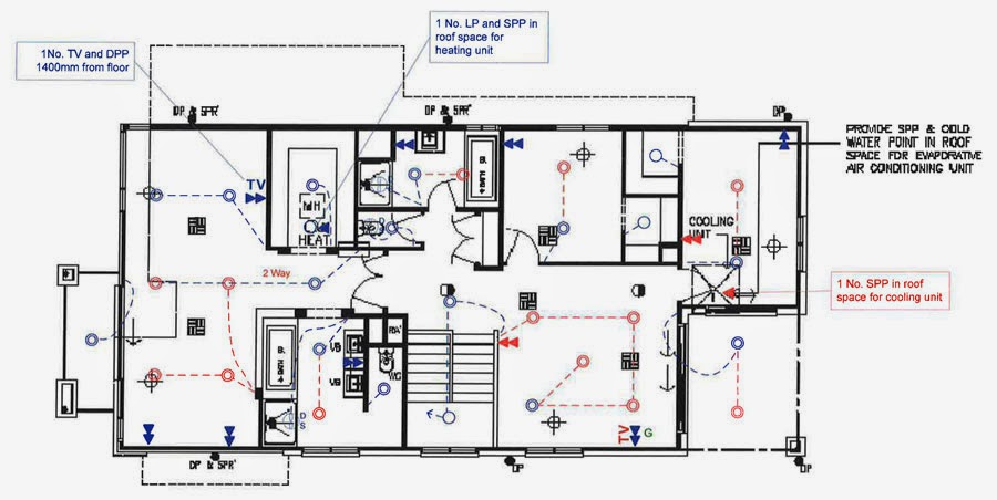 House Wiring Red Black White Bare The Diagram