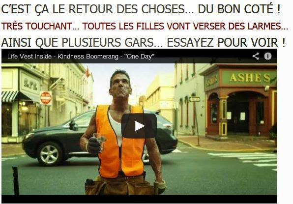 LE RETOUR DES CHOSES, OU L'EFFET BOOMERANG