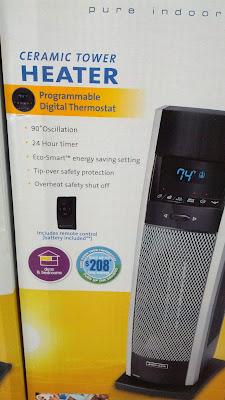 Bionaire Digital Ceramic Tower Heater saves on heating bill
