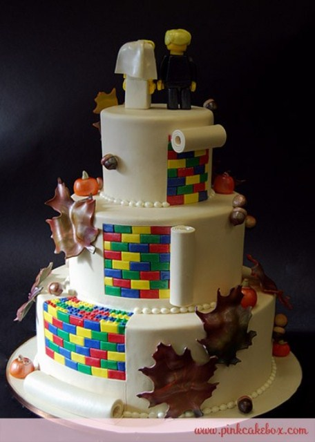 Lego Ring Bearers And Even Wedding Rings Look So Unusual But If You Hesitate Just Order A Funny Cake Some Favors Everybody Will Be