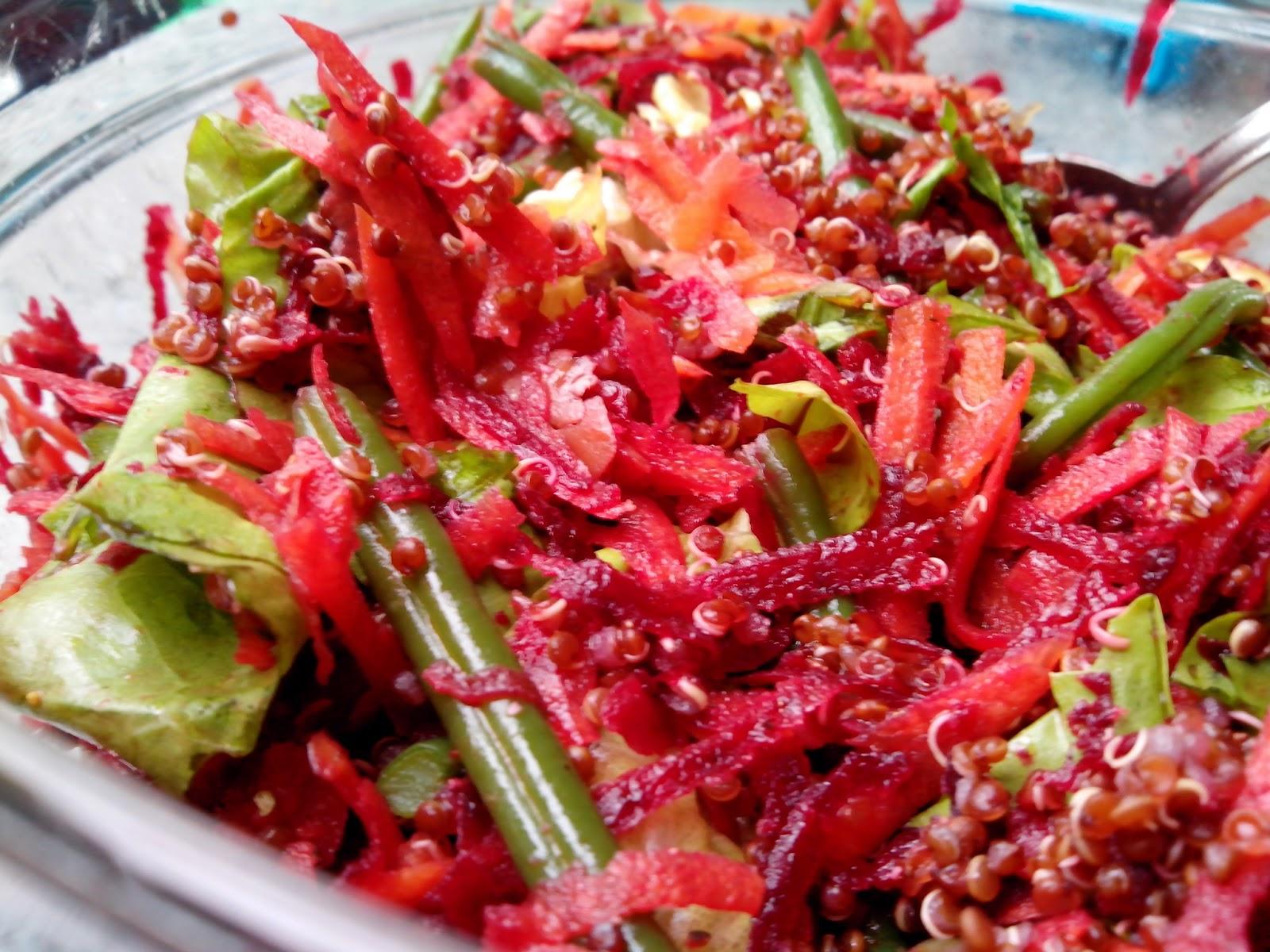 ensalada de betarraga y zanahoria