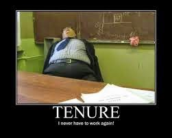 Tenure teacher sleeping