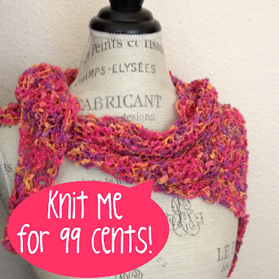Free Knitting Pattern: Felicia Triangle Scarf