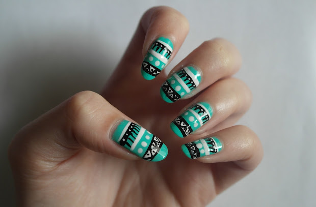 zoe georgina aztec nails