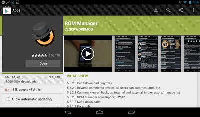 Cara Mudah Instal Custom ROM Android Dengan ROM Manager Lengkap