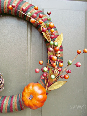 Berry Excited for Fall Yarn Wreath from It's Always Ruetten
