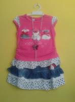 Stelan Kaos dan Rok Denim – Anak Usia 2-4 Tahun