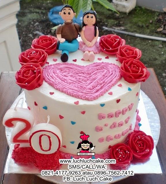 Kue Tart Ulang Tahun Romantis Daerah Surabaya - Sidoarjo