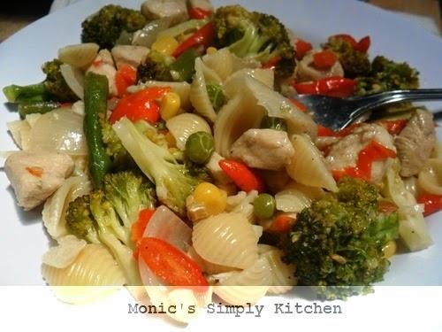 diet garam pasta sayuran