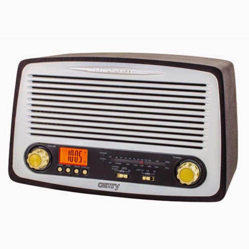 Ретро радиоприемник Camry CR1126 (USB, SD-card, часы, будильник) в элегантном деревянном корпусе с электронным табло