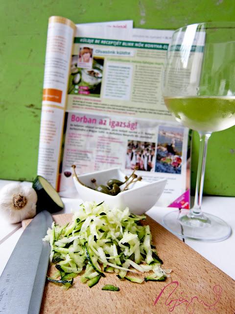 Cukkini főzelék pohárban kánikula esetére
