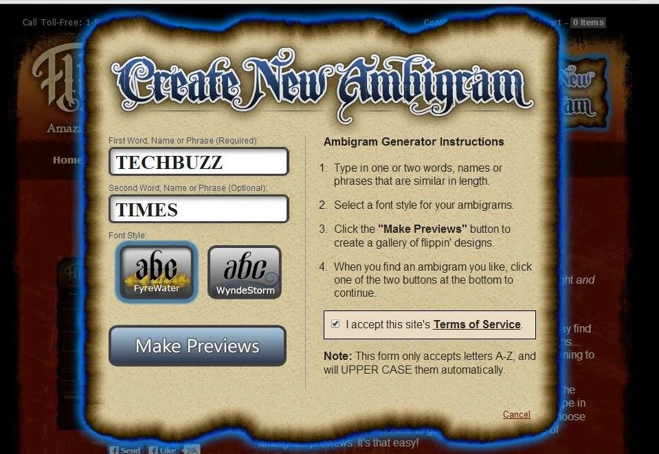 Create Ambigrams using Online Ambigram Generator  Ambigram Free Creator