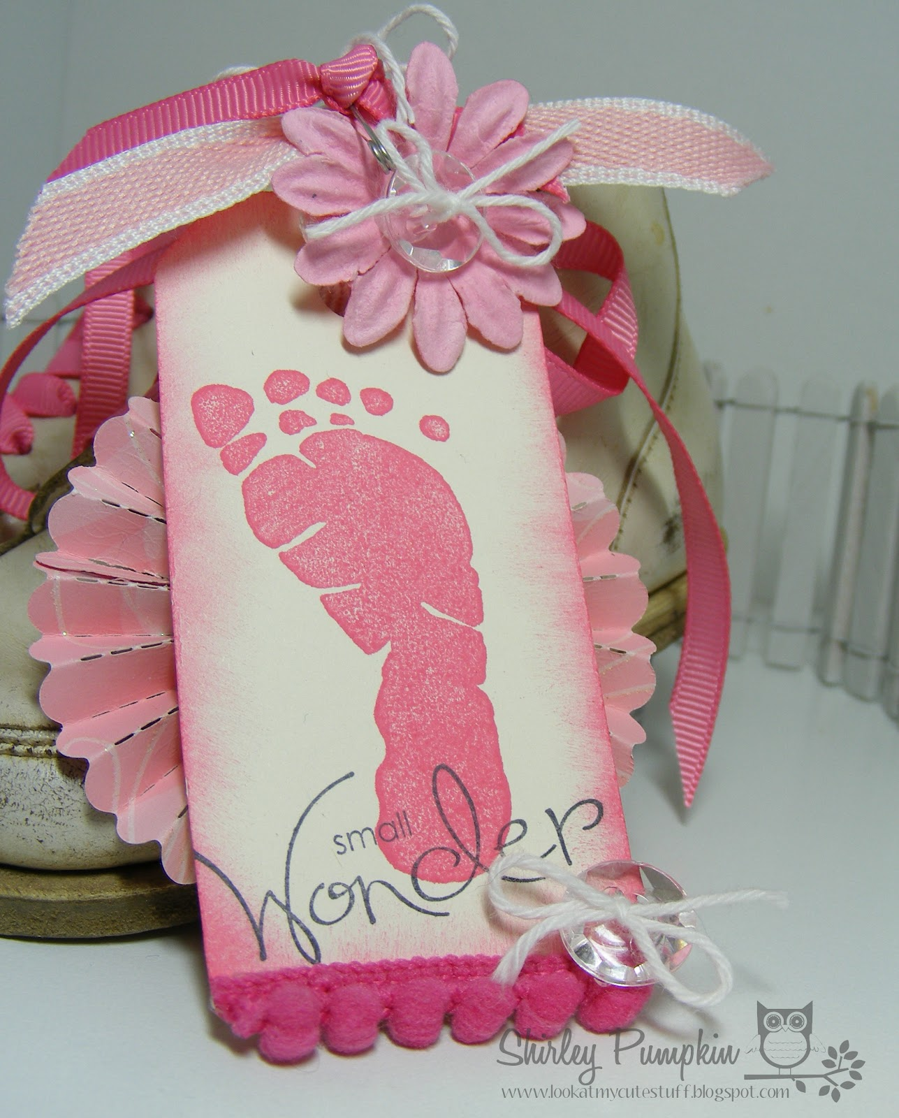 Cute stuff by Shirley: Vintage Baby Shoes with Girly Tag Great