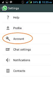merubah akun whatsapp
