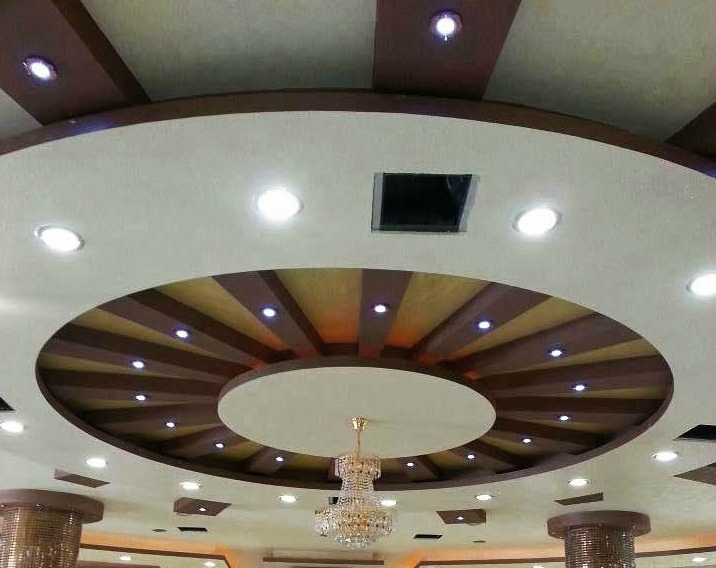 D coration de salon marocain for Design plafond en platre