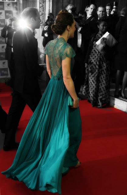 kate middleton style jenny packham teal evening dress duchess