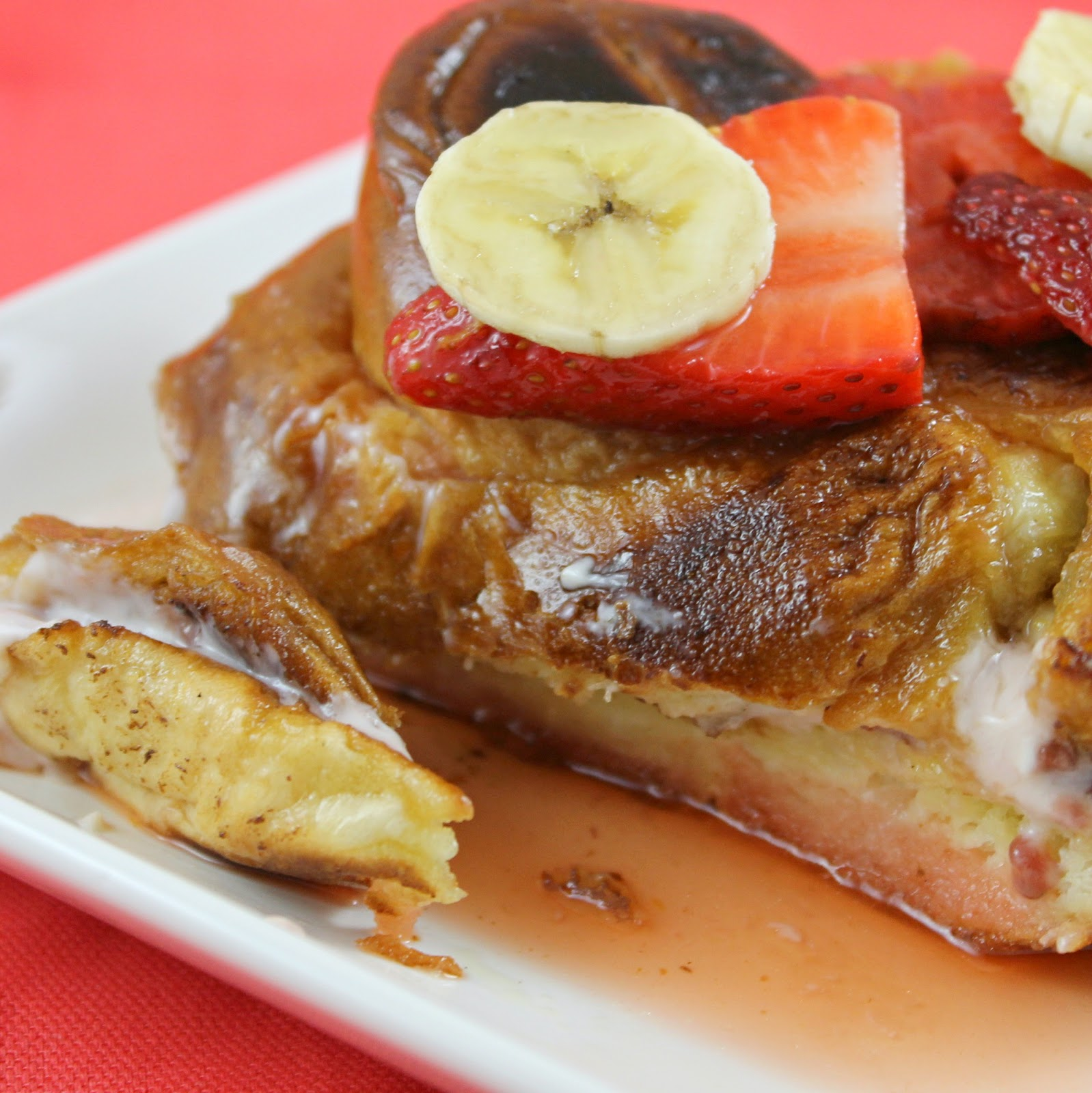 Strawberry-Banana Stuffed French Toast | I Can Cook That