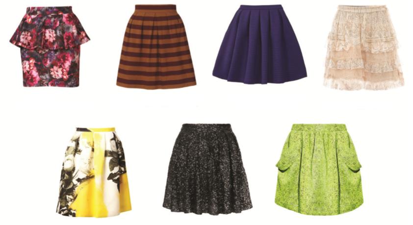 faldas para cuerpo triángulo invertido