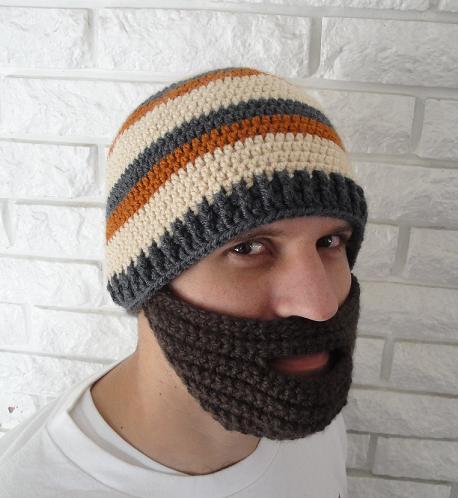 Toddler Crochet Beard Hat Pattern