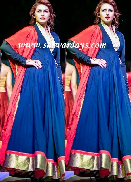 Indian Salwars and Indian Fashion: huma qureshi in blue ...