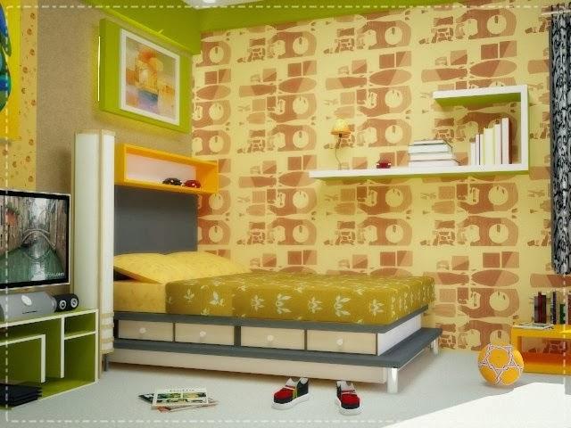 Desain interior kamar tidur anak laki laki