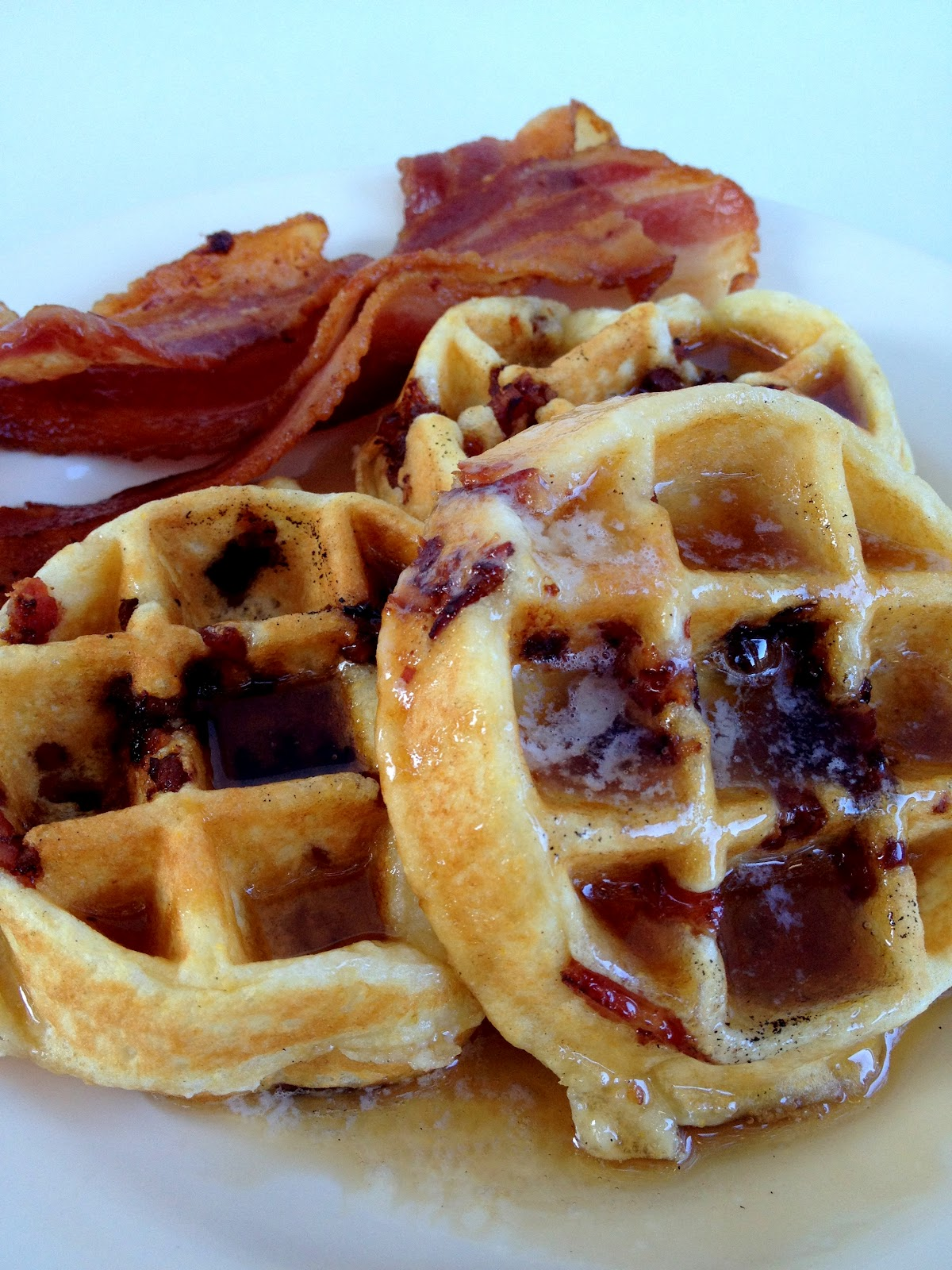 ... & whimsies for spreading joy*: Brown Sugar Bacon Belgian Waffles