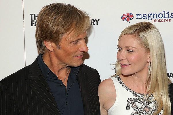 Kirsten Dunst and Viggo Mortensen at the premiere
