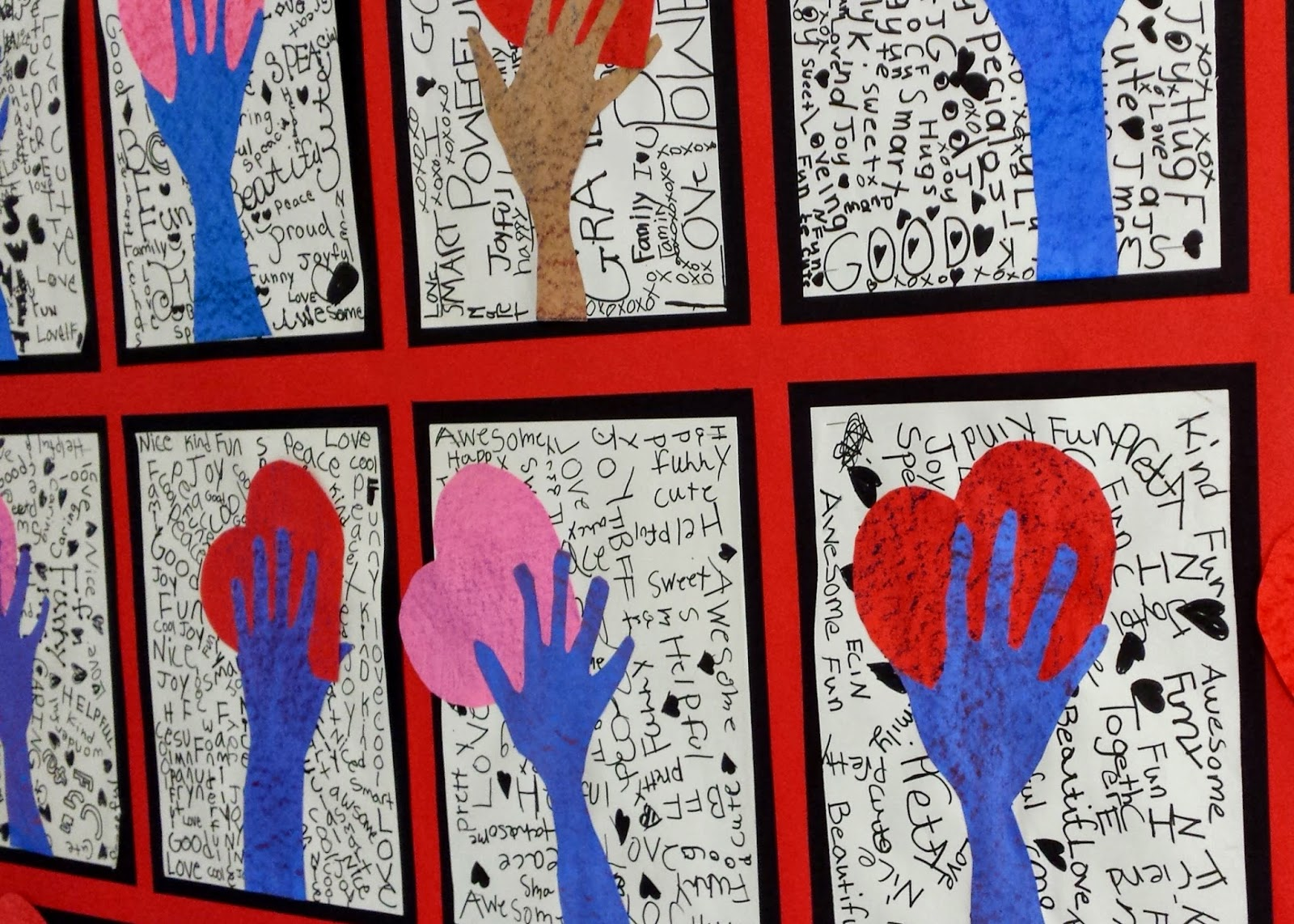 Hand Holding Heart on Fifth Grade Painting Ideas