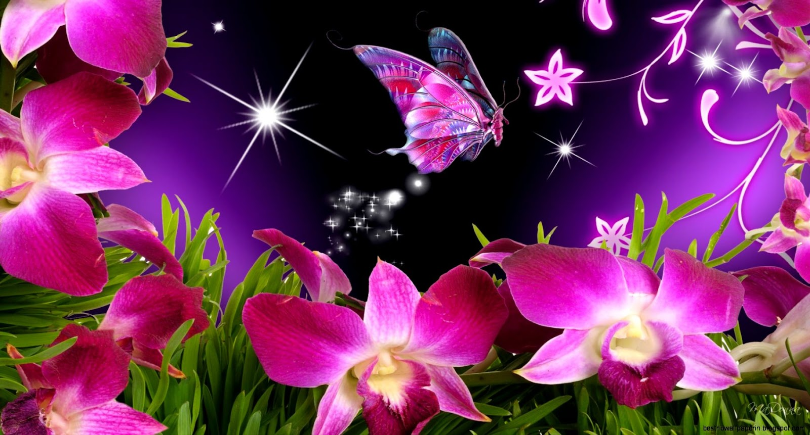 Fantastic Wallpaper Butterfly Spring - beautiful-pink-butterflies-and-flower  Collection_557511.jpg