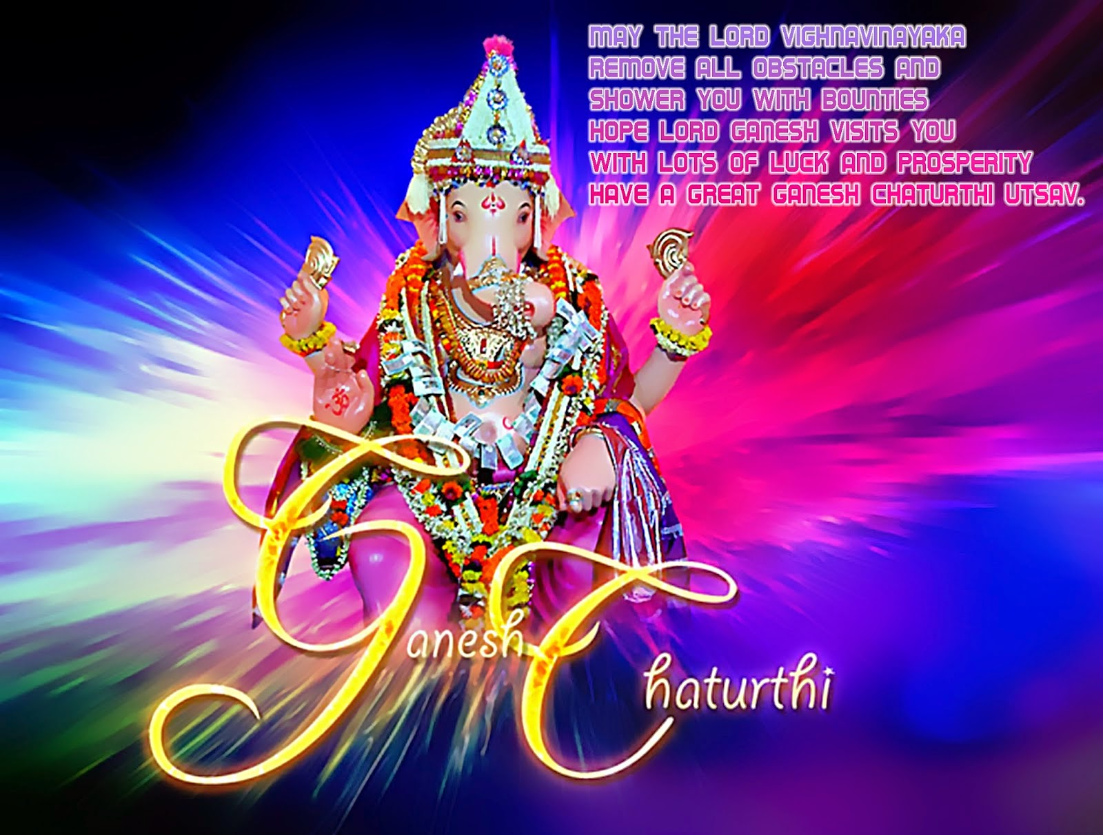 Thought and Quote of ganesh chaturthi Greetings Cards