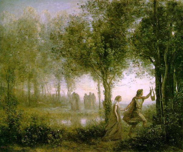Corot. Orfeo sacando a Eurídice del Hades