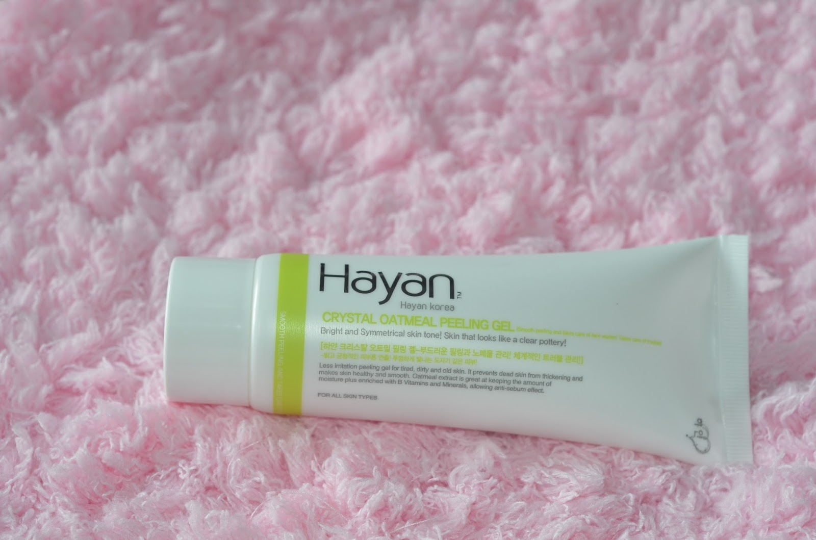 Hayan Korea Crystal Oatmeal Peeling Gel review