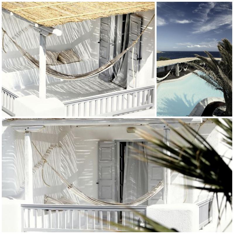 Hotellin terassi Kreikassa
