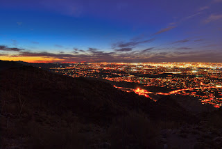 Phoenix Arizona Cityscape at Sunset