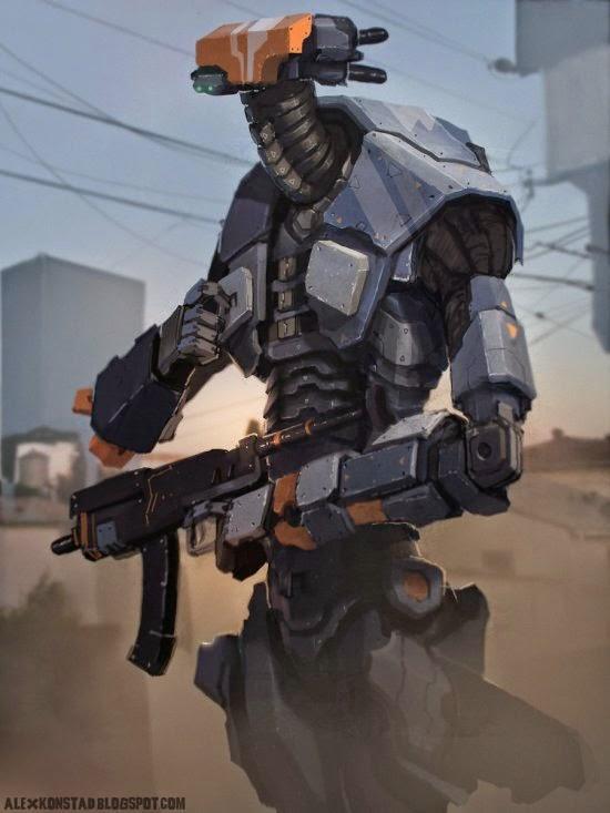 Alex Konstad deviantart ilustrações sombrias fantasia ficção científica terror