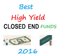 Top 10 High Yield Closed End Funds for 2016