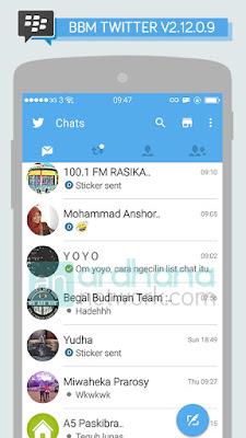 Preview BBM Twitter V2.12.0.9