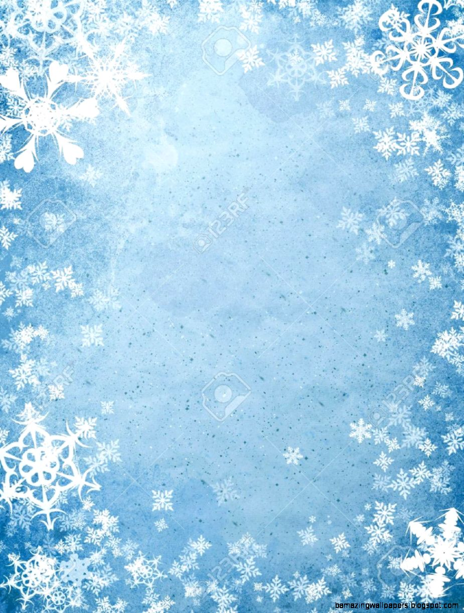 Rough Blue Holiday Cover With Many Snowflakes Stock Photo Picture
