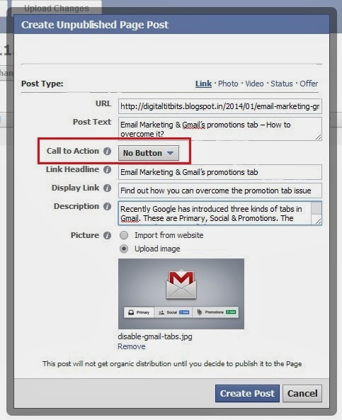 facebook call to action attributes